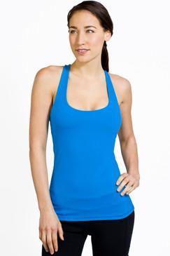 Grace Y-Back Yoga Tank (Bright Blue)