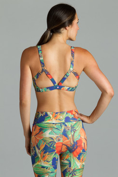 Grace printed yoga outfit bra tops