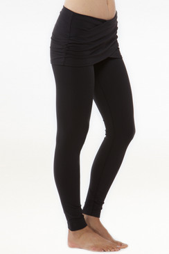 Goddess Luxe Wrap Yoga Legging (Black)