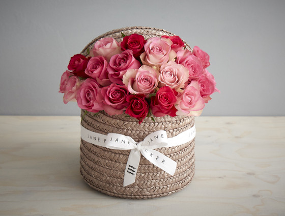 Jane Packer Delivered Grey Hatbox With Pink Roses