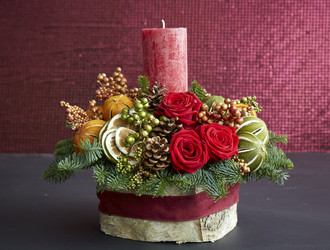 Yuletide Arrangement Workshop - Crimson