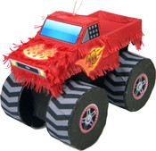 Red Monster Truck Pinata