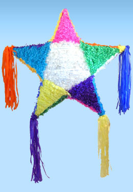Traditional Star Pinata Great For Any Mexican Holiday