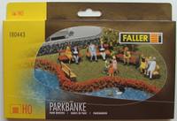 FALLER 180443 Park Benches - 00/HO