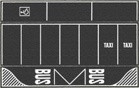 NOCH 60718 Car Park with Markings - Asphalt