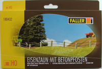 FALLER 180432 - Iron fence With Concrete Posts 00/HO