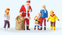PREISER 29098 Santa Claus With Children 00/HO