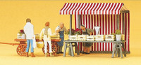 PREISER 10053 Fruit & Vegetable Stalls With Figures 00/HO