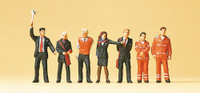 PREISER 10407 Railway Personnel 00/HO Model Figures