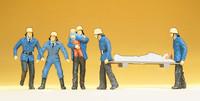 PREISER 14202 Firemen 00/HO Model Figures