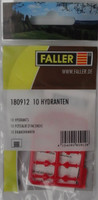 FALLER 180912 Hydrants (10) 00/HO Plastic Model Accessories