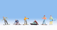 NOCH 15826 Snowboarders 00/HO Model Figures