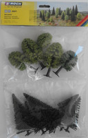 NOCH 26911 Hobby Trees - Mixed Forest 5cm - 14cm (10) 00/HO Gauge