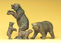 PREISER 20386 Brown Bears 00/HO Model Figures