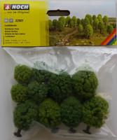 NOCH 32901 Hobby Trees - Deciduous 3.5cm - 5cm (10) 'N' Gauge