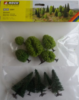 NOCH 32911 Hobby Trees - Mixed Forest 3.5cm - 9cm (10) 'N' Gauge
