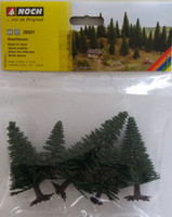 NOCH 26921 Fir Trees 5cm - 9cm (5) 00/HO Gauge