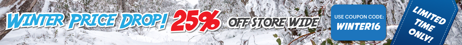 Winter Price Drop 25% Off Store Wide - Limited Time Only - Stingray Australia