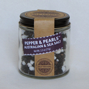 Pepper & Pearls | Australian Mountain Pepper or Sarawak Black Pepper with South African Pearl Sea Salt