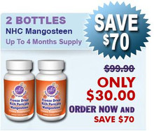 First Time Client 2 Bottles Natural Home Cures Freeze Dried Rich Pericarp Mangosteen Capsules $30.00