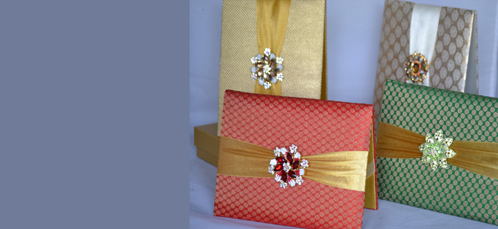 Wholesale and Retail Wedding Invitation Scroll invitation Silk
