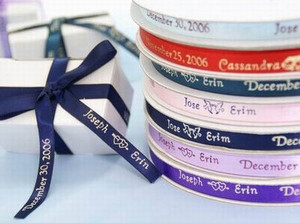 3/8 Personalized cut ribbon