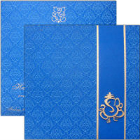 Invitation with envelope - I-0130 - BLUE