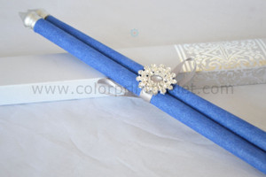 Decorative Scroll invitation with rhinestone decoration (Set of 25) - SCW-001