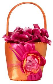 Hot Pink & Orange Flower Basket