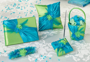 Blue and Green Wedding Ceremony & Reception Set