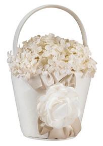 Taupe Rose Flower Basket