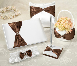 Brown Sash Wedding Ceremony & Reception Set
