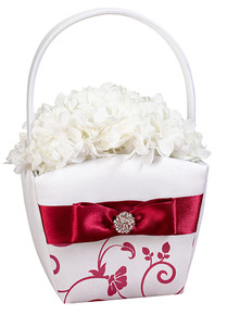 Red & White Flower Basket