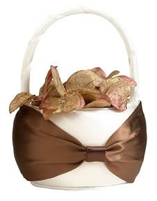 Brown on Cream Flower Basket