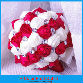 Rhinestone Wedding boutique with satin Roses
