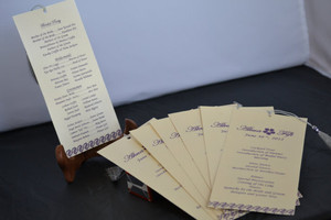 Wedding Program book - ETFC-02 (Set of 25)