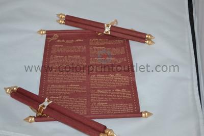 Scroll Program Book / Menu scroll - CSP-01
