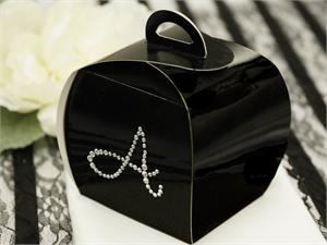 100 Personalized Diamond Letters Cupcake Purse Favor Boxes
