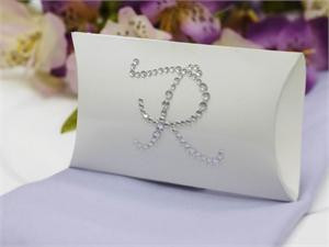 100 Personalized Large Diamond Letters Stylish Pillow Boxes