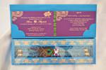 Peacock feather Scroll Invitation in the box - (Set of 25), royal theme, peacock theme, Unique wedding invitation-PKSC-001 (PKSC-001)