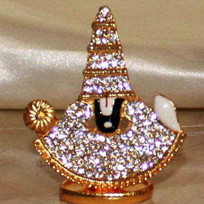 Indian Gift Favors (White stone Studded Perumal)