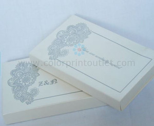 Paisley theme scroll invitation, Mini Scroll Box Invitation -  (Set of 25) - MSBT - 004