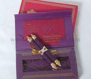 Moroccan theme Mini Scroll Box invitation (Set of 25) - MSBT -002