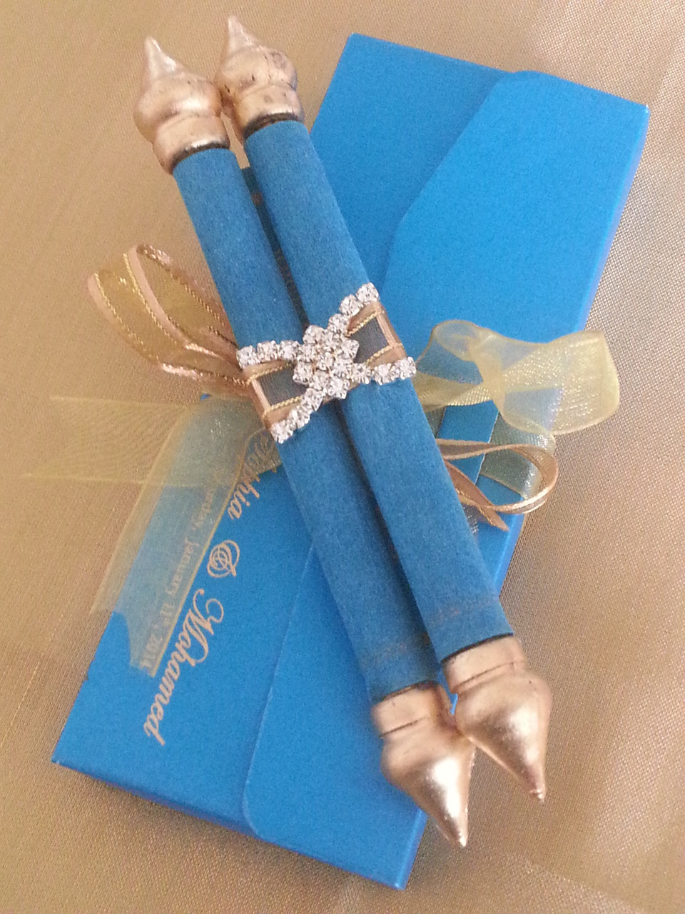 Mini Scroll with matching pouch Set of 25 MSPU 001 Baby shower