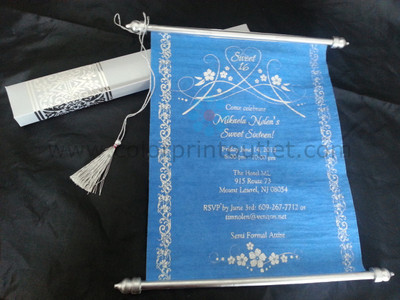 Decorative Royal Scroll invitation Set of 25 SCW002 Sweet