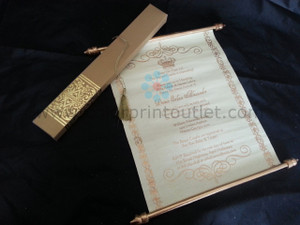 Decorative Royal Scroll invitation (Set of 25) - SCW-003 - Baby shower invitation