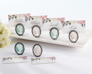 Vintage Cameo Place Card Holder - Set of 6