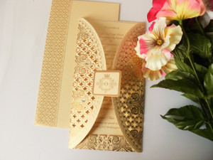 Laser cut invitation - Rangoli collection - LC-1058