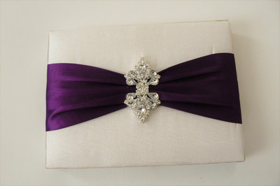 Dupioni Silk / Satin Box Invitation - DSC-0700