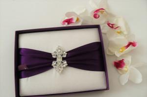 Dupioni Silk / Satin Box Invitation - DSC-0700